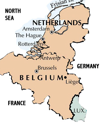 Belgium-Netherlands map