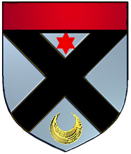 Black coat of arms - English